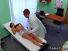 Doctor fucks a sexy little Serbian patient