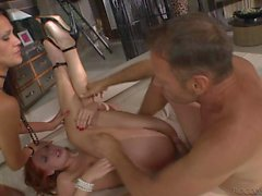 Enjoy threesome hot scene with Samia Duarte rocco Siffredi Eva Berger
