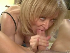 Mature Nina Hartley sucks like a pro
