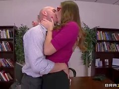Glassed office slut Paige Turnah with Big naturals