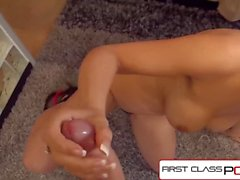 FirstClassPOV - Sarah Vandella suck & fuck a monster cock, big booty