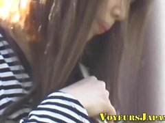 Asian slut filmed upskirt