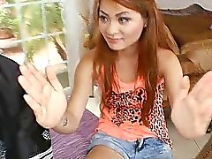 Vietnamese petite girl fucked by an enormous cock!
