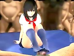 Sexy 3D anime schoolgirl getting banged