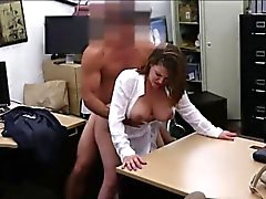 Milf flashes her tits and gets laid