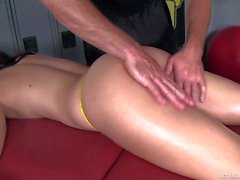 YOung hot ass girl Janice Lacey gets face fucked after massage