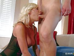 Big racked wife Puma Swede in sexy lingerie gets banged