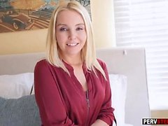Good stepson makes a horny MILF stepmom happy after sex