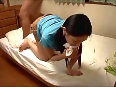Japanese girls easily makes her teacher blow a off a load.