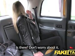Fake Taxi footjob and big cumshot for cute pussy blonde