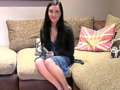 Shy model banging on casting interview
