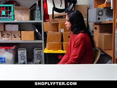 ShopLyfter - Black Teen Interrogated and then Fucked