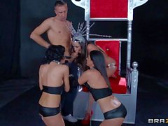 Ariella and her girls fight over a hard rod