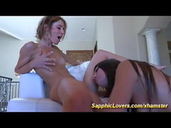 flexi babe sheena shaw licking her girlfriends pussy