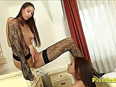 Bursting Teen Pisses Herself