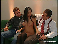 Hot Latin Chick In Nylon Nylons Yells As That Babe Receives Hammered