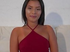 Hot Latina bubble butt loves a big white guy dick