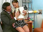 Delighting two horny teachers