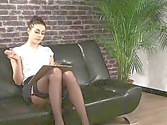 Clothed stockings domina
