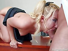 Student girl Aaliyah Love takes man meat in her pink pussy