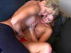 Horny lesbos in the gym and after it