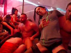 Glam euros fuck and engulf strippers at fuckfest