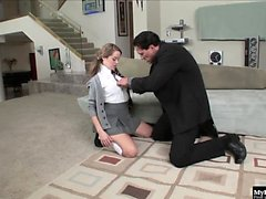 Nichole Heiress has a conversation with her teacher who...