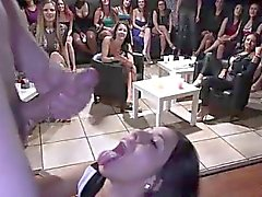 CFNM amateur fucked by stripper doggystle for group
