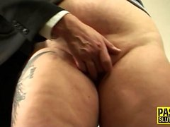 Chubby submissive banged