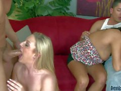 Horny swingers Cathy Heaven and Miya Monroe