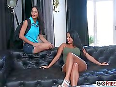 Busty MILF Ava Addams and busty teacher Alura Jenson fucked at school