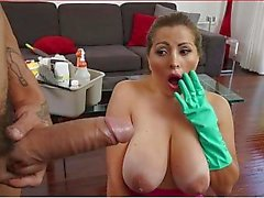 BANGBROS - Busty Latina Maid Alessandra Gets Railed By Bruno