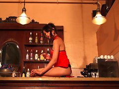 Oriental Babe Squirts In Bar
