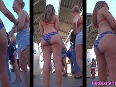 Big Hot Ass Thong Bikini latina Girls Beach Voyeur Spy Cam