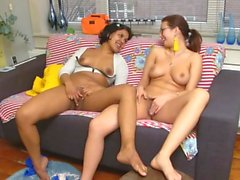 Andreea(Romania) and Chloe intimate moments