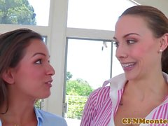 CFNM Chanel Preston licks pussy while fucking