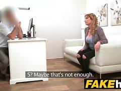 Fake Agent Spanish babe with huge tits