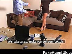 FakeAgentUK - Anal casting smoking hot babe