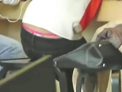 her thong claims Victoria's Key onto it