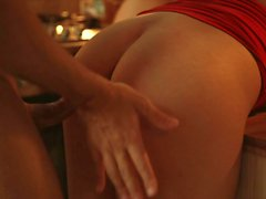 Los Consoladores - Hungarian babes Dolly Diore and Sicilia threesome on the kitchen counter