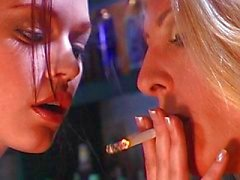 Smoking fetish chicks having fun