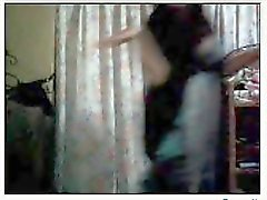 filipino lady danching on webcam