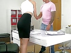 Female agent fucking in office