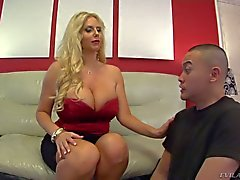 Exotic guy Eric Jover is Karen Fisher's slave boy for