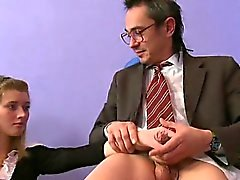 Playgirl is sucking teacher's cock