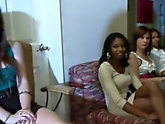 Office girls get slutty at the party