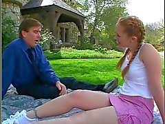 Pigtailed Redhead Babysitter Kitty Fucks The Dad