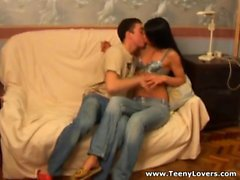 blowjob, brünett, lecken, kleine titten, teenager