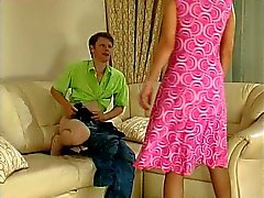 Guy caught wanking gets a MILF bonus