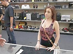 Sexy amateur chick fucked by pawn keeper in the toilet